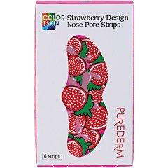 Purederm Čisticí pásky na nos Strawberry design (jahody) 6 ks
