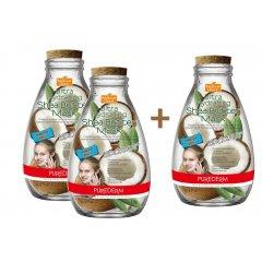 Purederm Ultra hydratační pleťová maska s bambuckým máslem a kokosem, AKCE 2+1 ZDARMA, 3ks