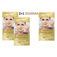 Victoria Beauty DETOX Gold (zlatá) Slupovací maska s kolagenem, AKCE 2+1 ZDARMA, 3 x 10ml