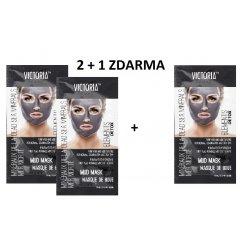 Victoria Beauty DETOX Mud Bahenní maska Mrtvé moře, AKCE 2+1 ZDARMA, 3 x 10ml