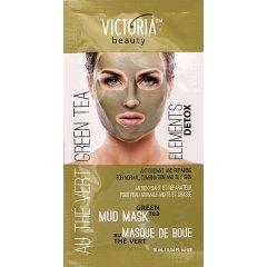 Victoria Beauty DETOX Mud Bahenní maska Zelený čaj, AKCE 2+1 ZDARMA, 3 x 10ml