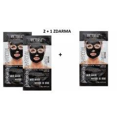 Victoria Beauty DETOX Mud Charcoal (uhlí) Bahenní maska, AKCE 2+1 ZDARMA, 3 x 10ml