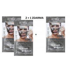 Victoria Beauty DETOX Volcanic ash (sopečný popel) Slupovací maska s kolagenem, AKCE 2+1 ZDARMA, 3 x 10ml