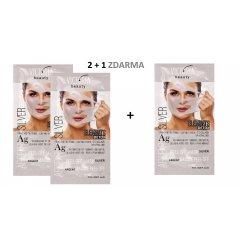 Victoria Beauty DETOX Silver Slupovací maska se stříbrem a kolagenem, AKCE 2+1 ZDARMA, 3 x 10ml