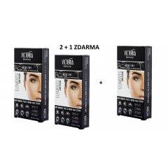 Victoria Beauty DETOX Depilační pásky na obličej a oblast bikin, 20 pásků+2 olejové ubrousky, AKCE 2+1 ZDARMA, 3 x 22 ks