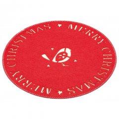 Kitchen craft Vánoční prostírání textilní Little Red Robin, 28x28 cm 4 ks