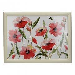 Creative Tops Servírovací tác s polštářem Watercolour Poppies 44x33 cm