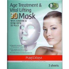 Purederm Omlazující liftingová 3D pleťová maska, 3 ks