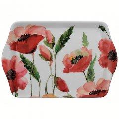 Creative Tops Melaminový tácek Watercolour Poppies 21x14 cm