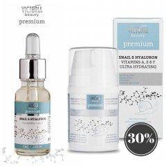 Victoria Beauty Premium SNAIL & HYALURON ENERGIZING COCTAIL se šnečím extraktem Krém + sérum, 50 ml+ 20 ml