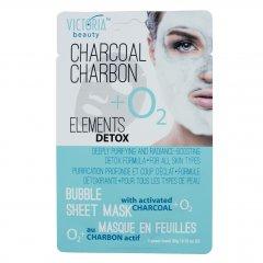 Victoria Beauty Detox Okysličující bublinková pleťová maska s aktivním uhlím