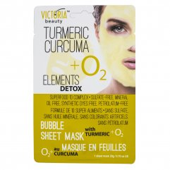 Victoria Beauty Detox Okysličující bublinková pleťová maska s KURKUMOU
