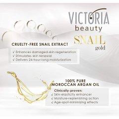 Victoria Beauty SNAIL gold Vyhlazovací pleťové sérum se šnečím extraktem a arganovým olejem 30 ml