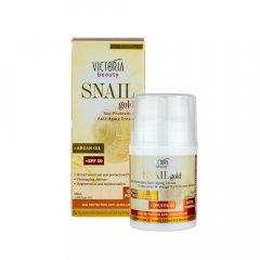 Victoria beauty SNAIL gold Ochranný pleťový krém SPF 50  se šnečím extraktem a arganovým olejem 50 ml