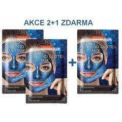 Purederm Galaxy Slupovací maska Diamantový třpyt modrá 2+1 ZDARMA