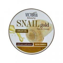 Victoria Beauty SNAIL gold Rodinný krém se šnečím extraktem a arganovým olejem 200 ml