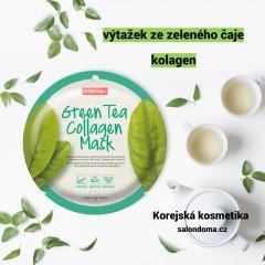 Purederm Kolagenová buničitá maska se zeleným čajem 2+1 ZDARMA, 3 ks