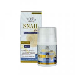 Victoria Beauty Snail Gold Ochranný pleťový krém SPF 25 se šnečím extraktem a arganovým olejem 50 ml