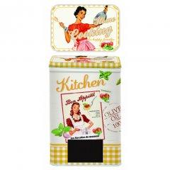 Easy Life Plechová kuchyňská dóza Vintage Home  9,5x6,5x14,5 cm