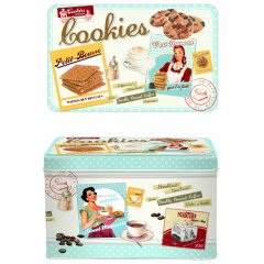 Easy Life Plechová dóza na sušenky Cookies 22x14x13 cm