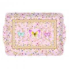 Easy Life Melaminový tác Majestic Butterflies 22x15 cm