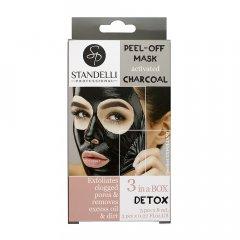 Standelli Professional Černá slupovací peel off maska s aktivní uhlím 3 x 8 ml 3ks
