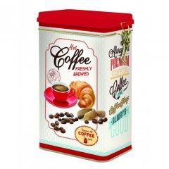 Easy Life Plechová dóza na kávu Hot Coffee 13x8x21 cm