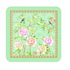 Easy Life Korkové podložky Palace Garden Aqua 10,5x10,5 cm 6 ks