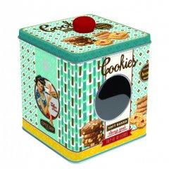 Easy Life Plechová dóza na bonbóny Cookies 13x13x14,5 cm