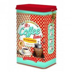 Easy Life Plechová dóza na kávu Coffee Time 13x8x21 cm