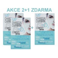 Victoria Beauty Victoria Beauty Detox Okysličující bublinková pleťová maska s aktivním uhlím AKCE 2+1 ZDARMA, 3 ks