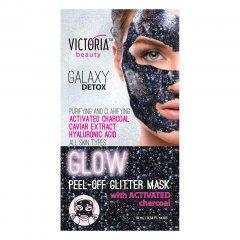 Victoria Beauty Slupovací maska Galaxy Detox s aktivním uhlím 10 ml