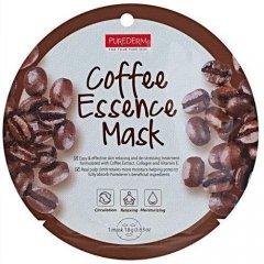Purederm Textilní pleťová kolagenová maska s výtažky z kávy 18 g