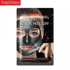 Purederm GALAXY Slupovací maska s černými perlami, kaviárem a aktivním uhlím 10g