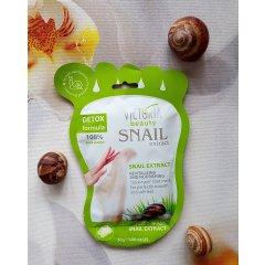 Victoria Beauty Snail Extract Výživná maska na chodidla se šnečím extraktem 1 pár