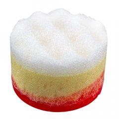Victoria Beauty Masážní glycerinové mýdlo s houbičkou Červená růže 60 g