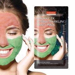 Purederm GALAXY 2x Bublinková maska růžová a zelená 2x6g