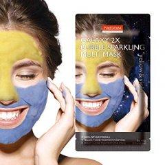 Purederm GALAXY 2x Bublinková maska žlutá a fialová 2x6g
