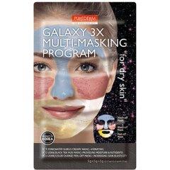 Purederm GALAXY 3x Multi masking program pro suchou pokožku 3x5g