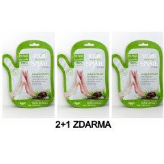 Victoria Beauty Snail extract Hydratační maska na ruce se šnečím extraktem 2+1 ZDARMA, 3 ks