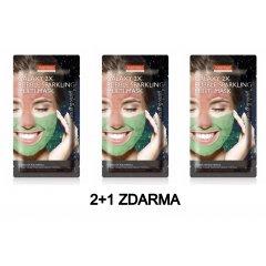 Purederm GALAXY 2x Bublinková maska růžová a zelená AKCE 2+1 3 ks