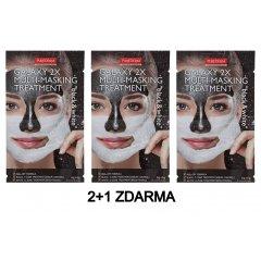 Purederm GALAXY 2x Slupovací maska černá a bílá AKCE 2+1 ZDARMA