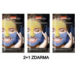 Purederm GALAXY 2x Bublinková maska žlutá a fialová AKCE 2+1 ZDARMA, 3ks