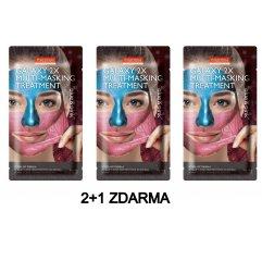 Purederm GALAXY 2x slupovací maska modrá a růžová AKCE 2+1 ZDARMA