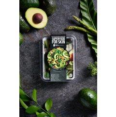 Farmskin SUPERFOOD Avokádo salát Výživné plátýnkové masky s vitamíny 7 ks