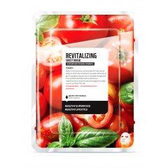 Farmskin SUPERFOOD Textilní Revitalizační pleťová maska s výtažky z rajčat 1 ks