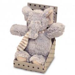 Unique living Plyšový slon v papírové dárkové krabičce