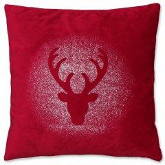 Unique living Vánoční polštář Rudolph červený 45x45 cm
