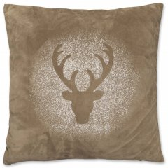 Unique living Vánoční polštář Rudolph hnědý 45x45 cm