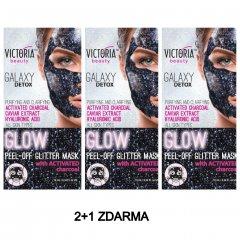 Victoria Beauty Slupovací maska Galaxy Detox s aktivním uhlím AKCE 2+1 ZDARMA 3x10 ml